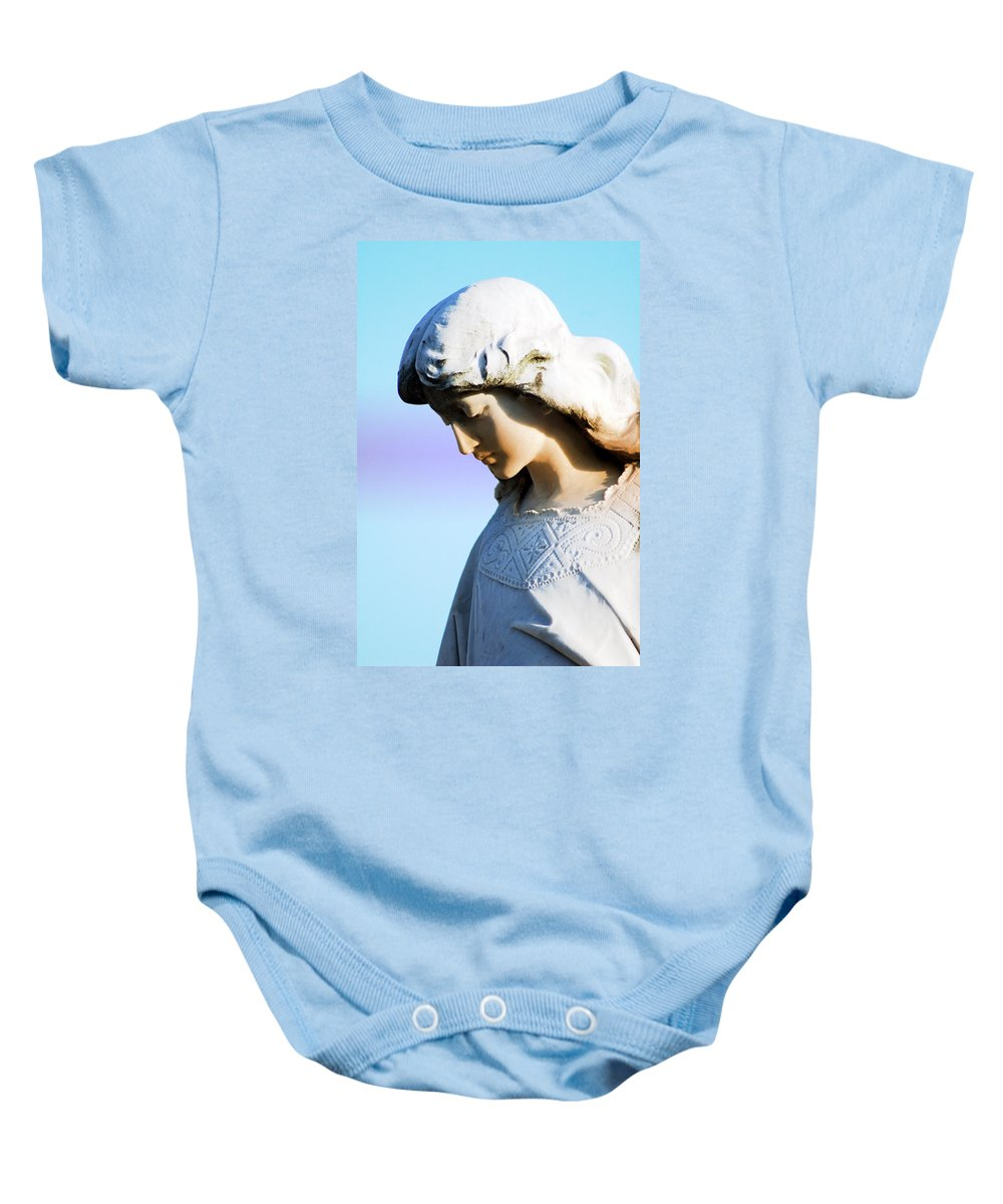 Angel Baby Onesie featuring the photograph The Face Of An Angel by Susanne Van Hulst