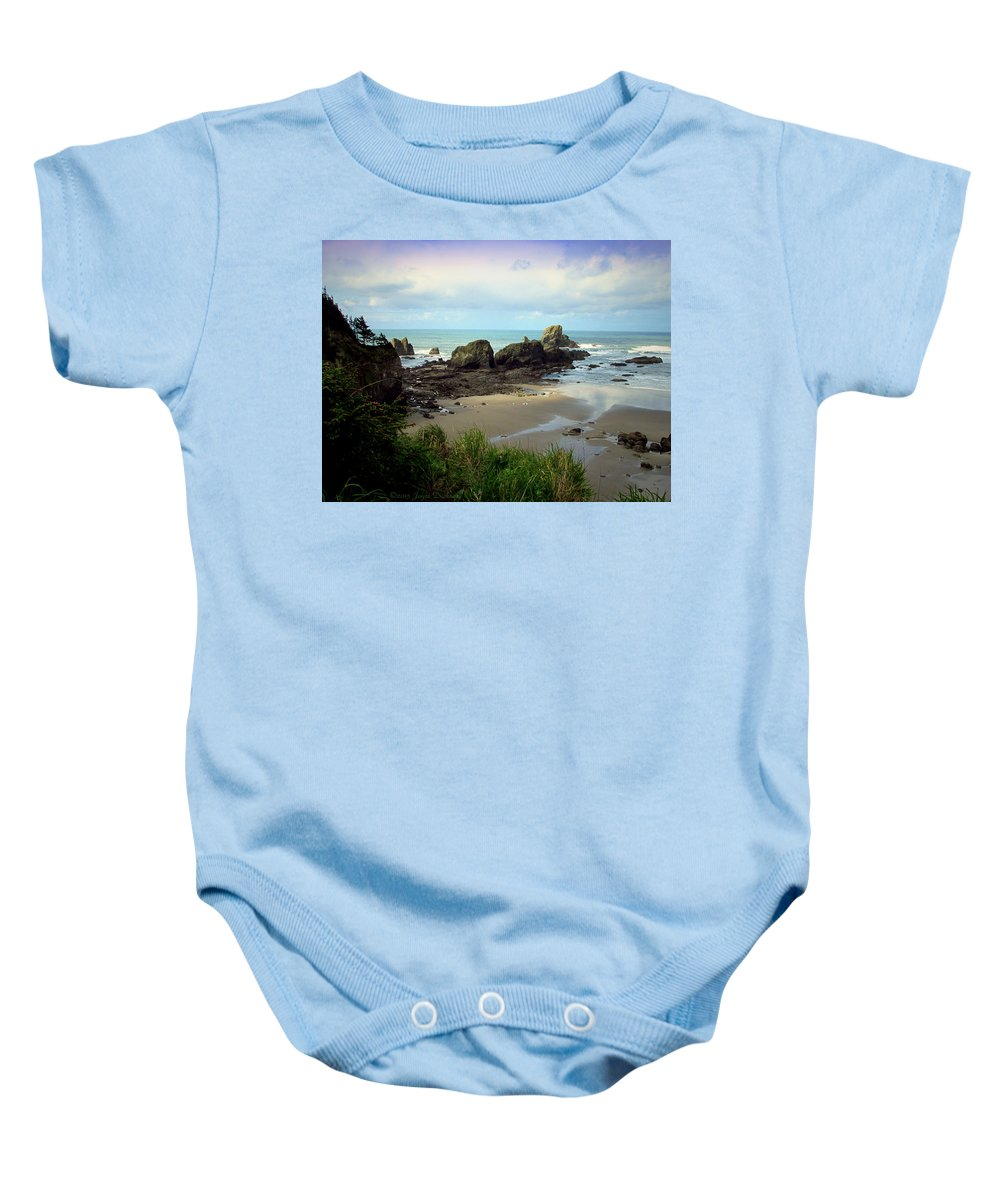 Pacific Baby Onesie featuring the photograph The Gorgeous Northwest Pacific Coastline by Joyce Dickens