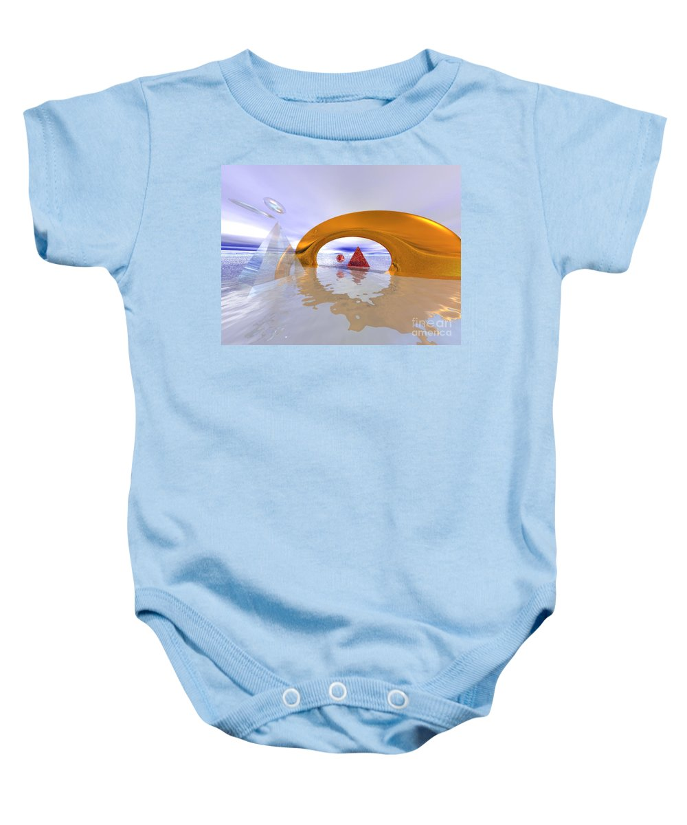 Fantasy Baby Onesie featuring the digital art The Journey Beyond by Oscar Basurto Carbonell