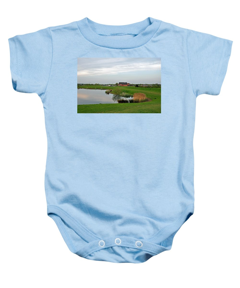 Europe Baby Onesie featuring the photograph The Lake At Barton Marina by Rod Johnson