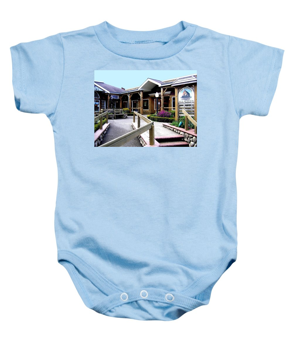 The Landing Baby Onesie featuring the photograph The Landing by Will Borden