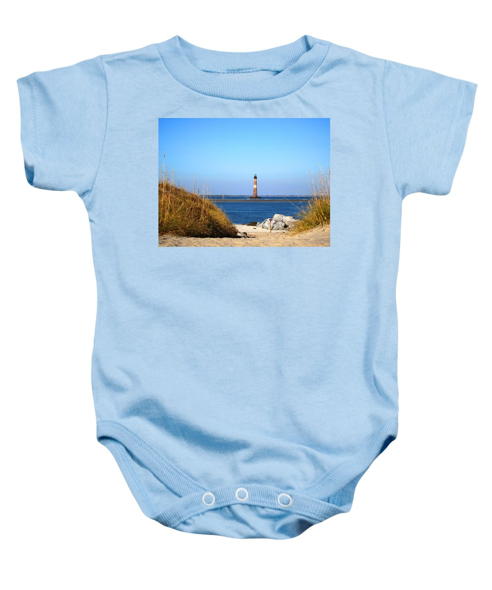 Photography Baby Onesie featuring the photograph The Lighhouse At Morris Island Charleston by Susanne Van Hulst