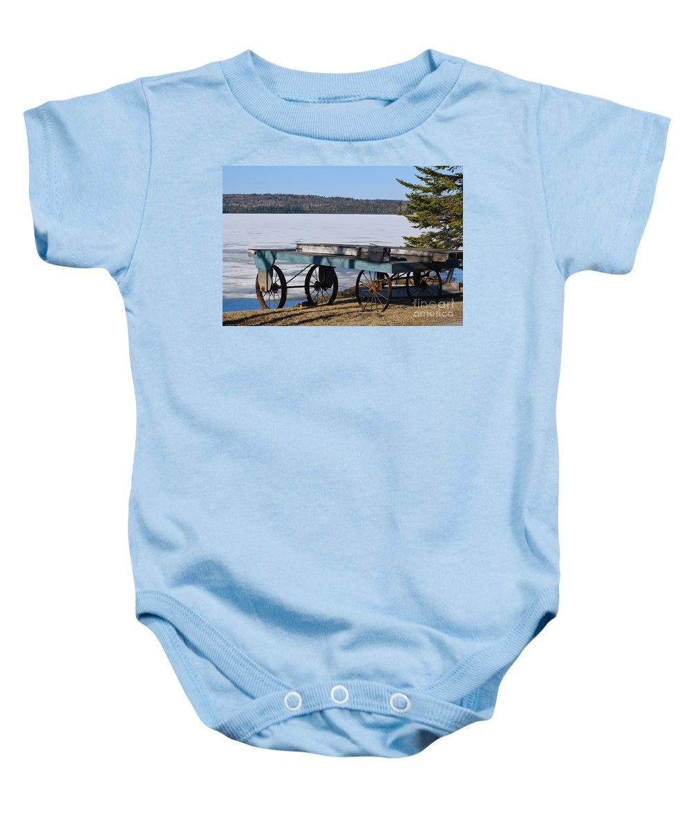 Boat Dock Baby Onesie featuring the photograph The Long Wait by William Tasker