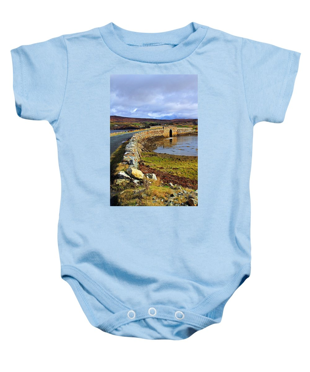 Water Baby Onesie featuring the photograph On Both Sides Of The Bridge by Jennifer Robin