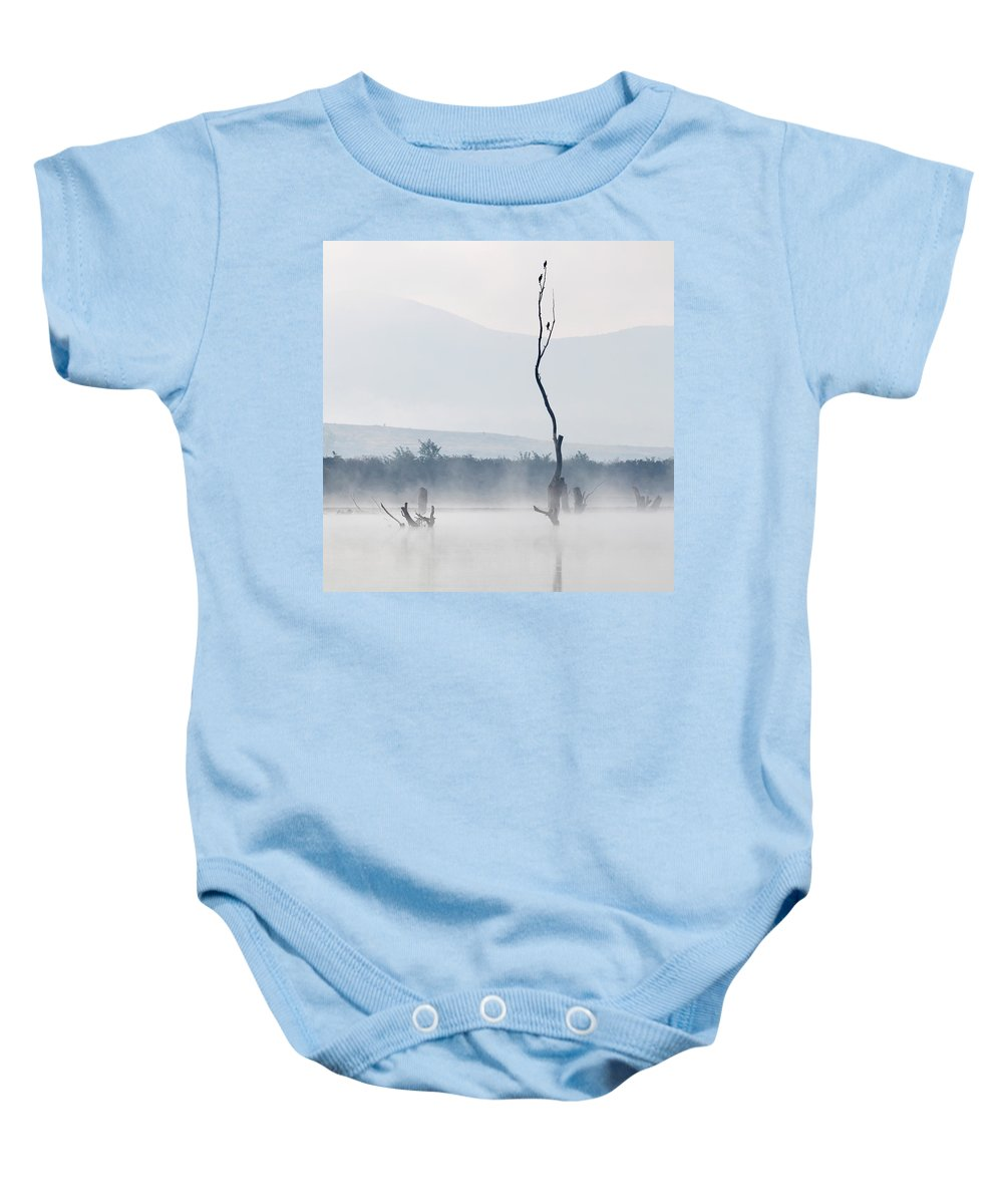 Fog Baby Onesie featuring the photograph The Messengers by Evgeni Dinev