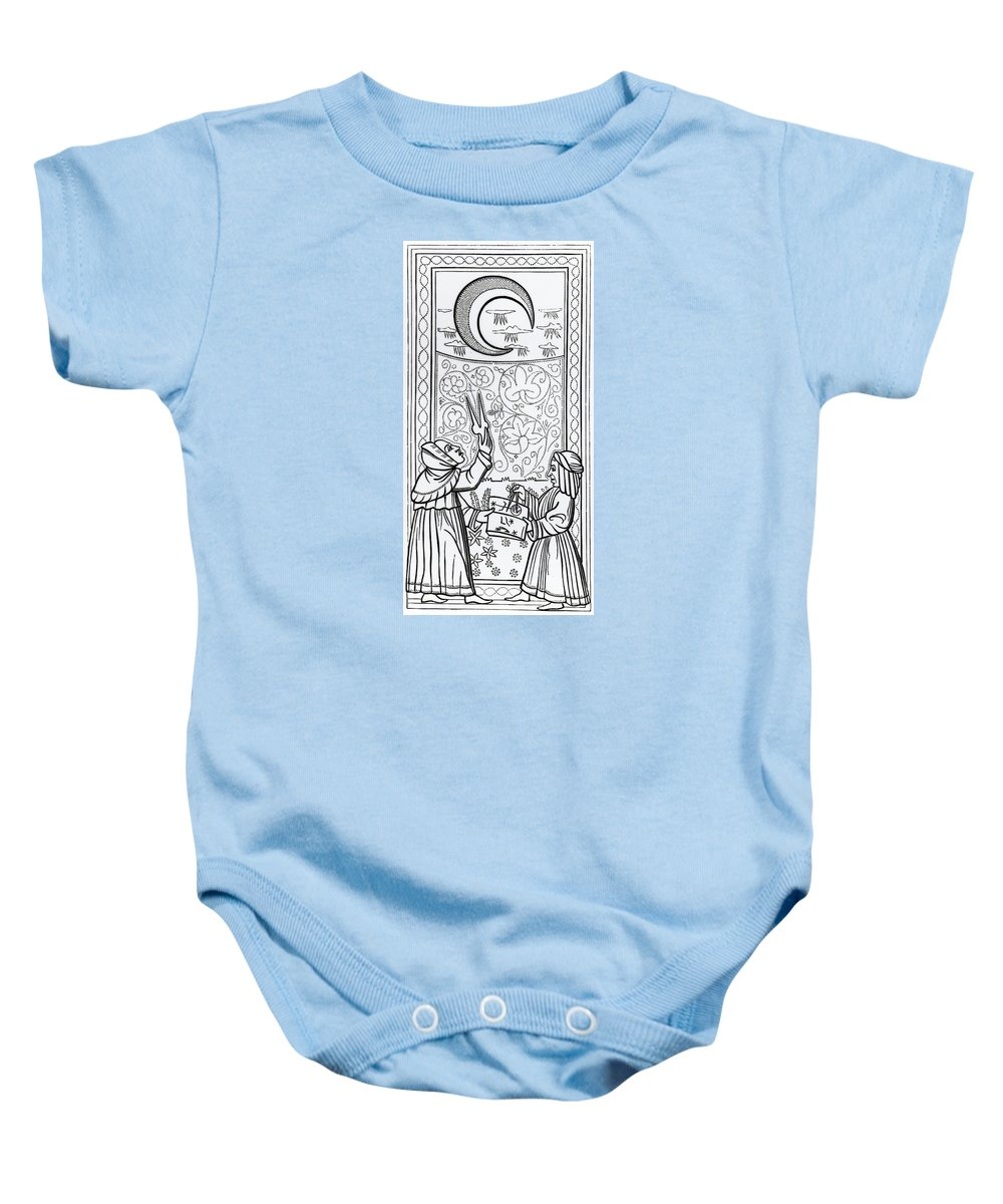 The Moon Tarot Card Baby Onesie