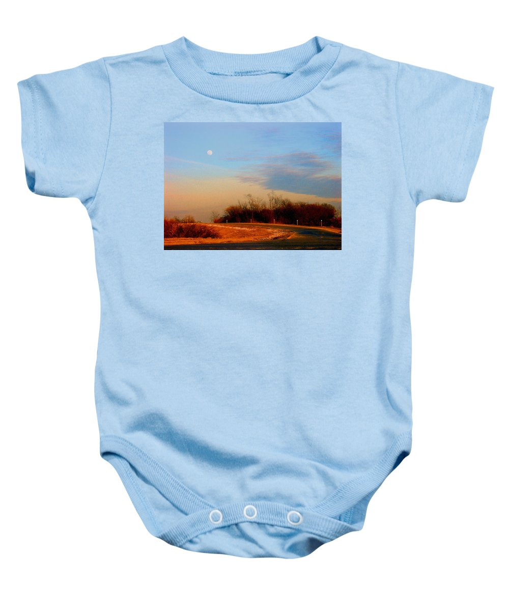 Landscape Baby Onesie featuring the photograph The On Ramp by Steve Karol