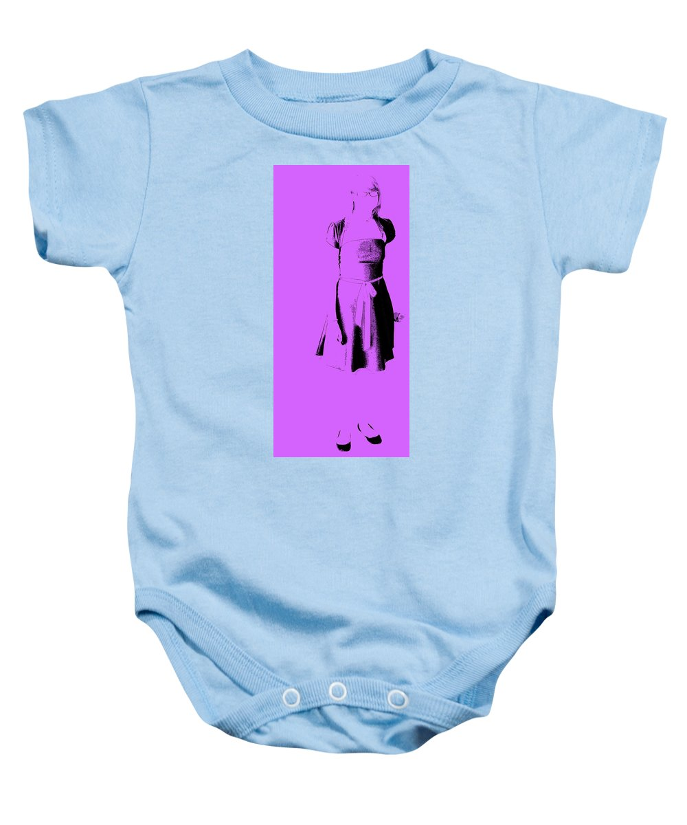 Dress Baby Onesie featuring the photograph The Purple Dress by Ed Smith