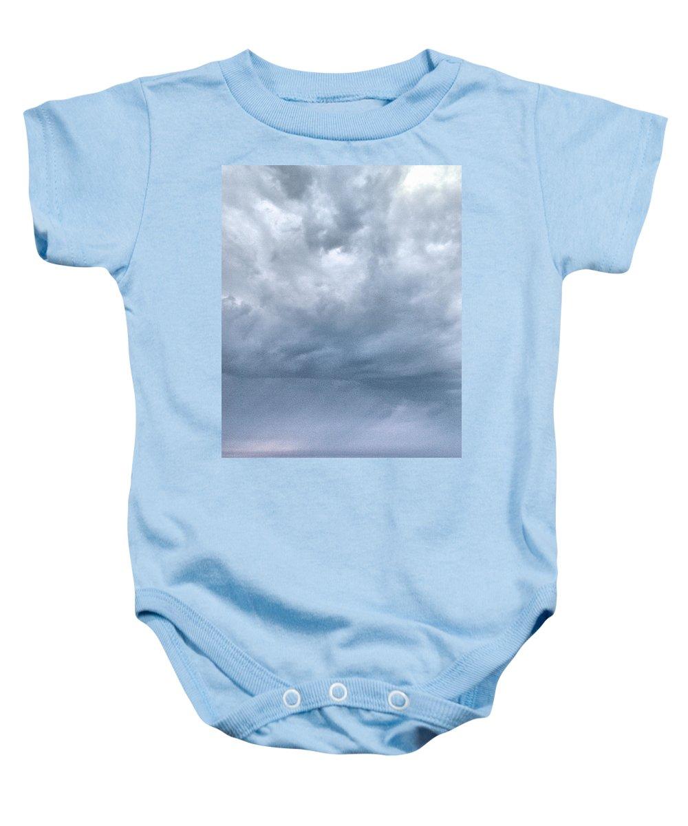 Lehtokukka Baby Onesie featuring the photograph The Rising Storm by Jouko Lehto