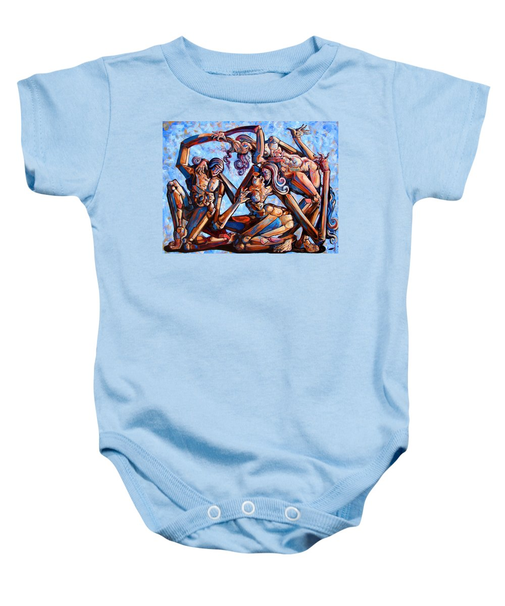 Surrealism Baby Onesie featuring the painting The Seduction Of The Muses by Darwin Leon