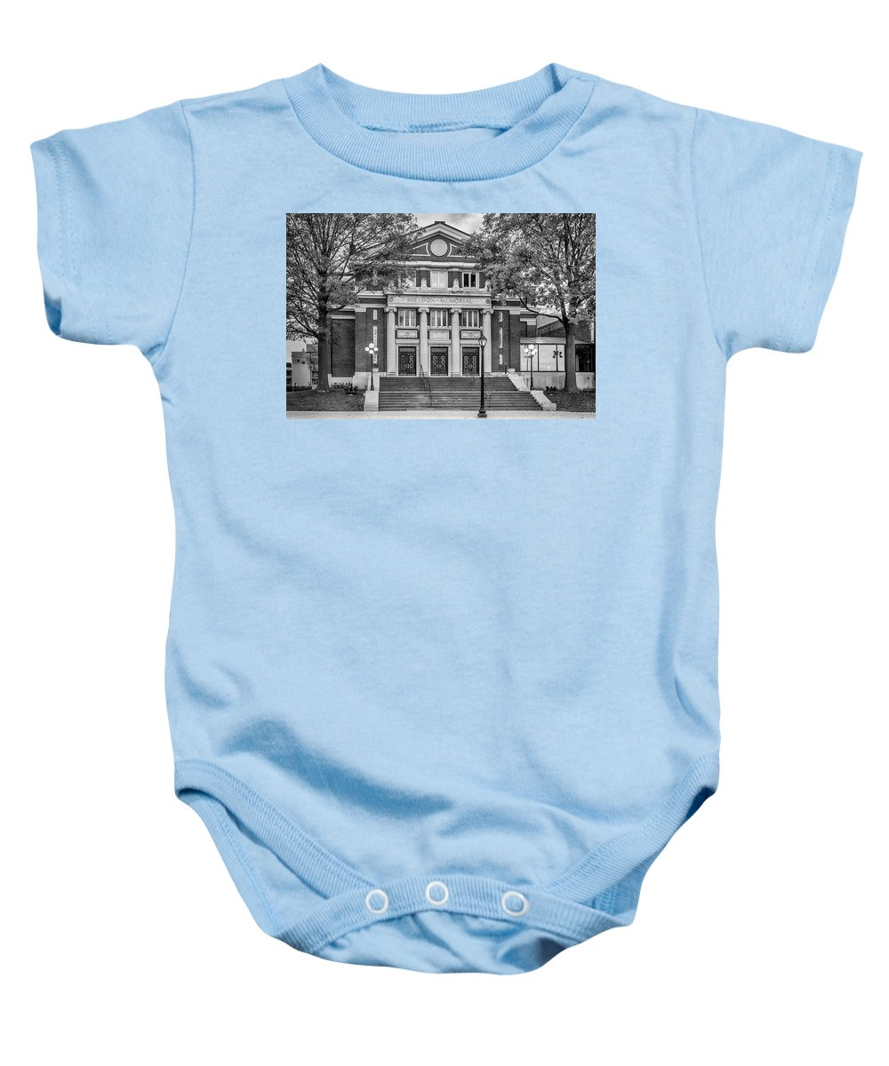 The Sheldon Concert Hall Baby Onesie featuring the photograph The Sheldon Concert Hall Bnw 7r2_dsc3020_11242017 by Greg Kluempers