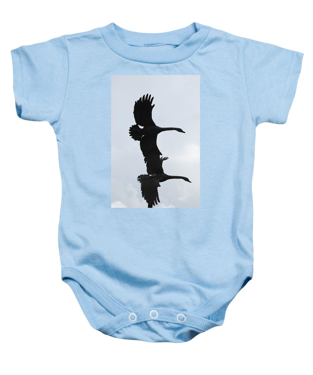Sky Baby Onesie featuring the photograph The Stone Birds by Rob Hans