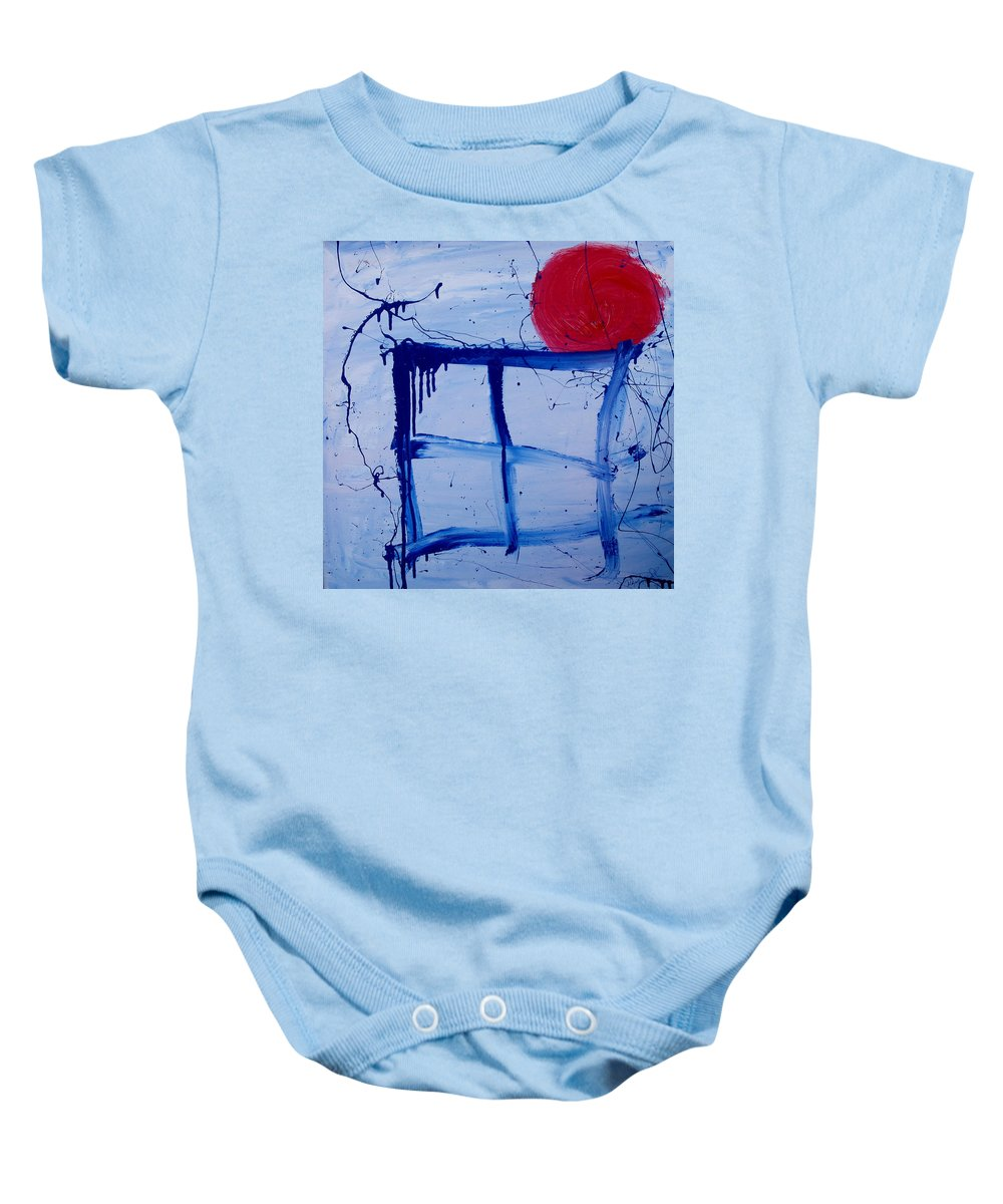 Sun Baby Onesie featuring the painting The Sun Through My Window by Wayne Potrafka