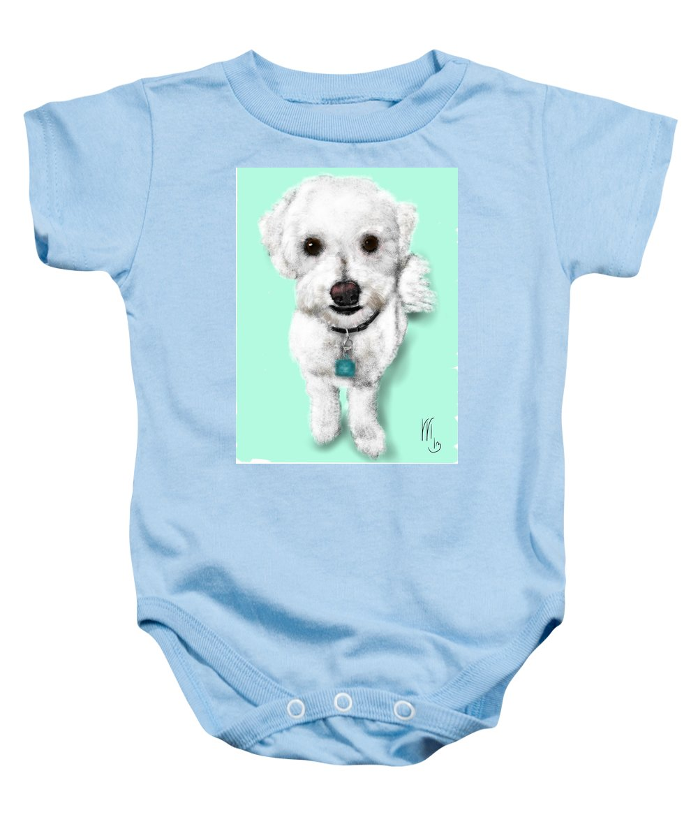 Pets Baby Onesie featuring the painting The Sweetheart by Lois Ivancin Tavaf