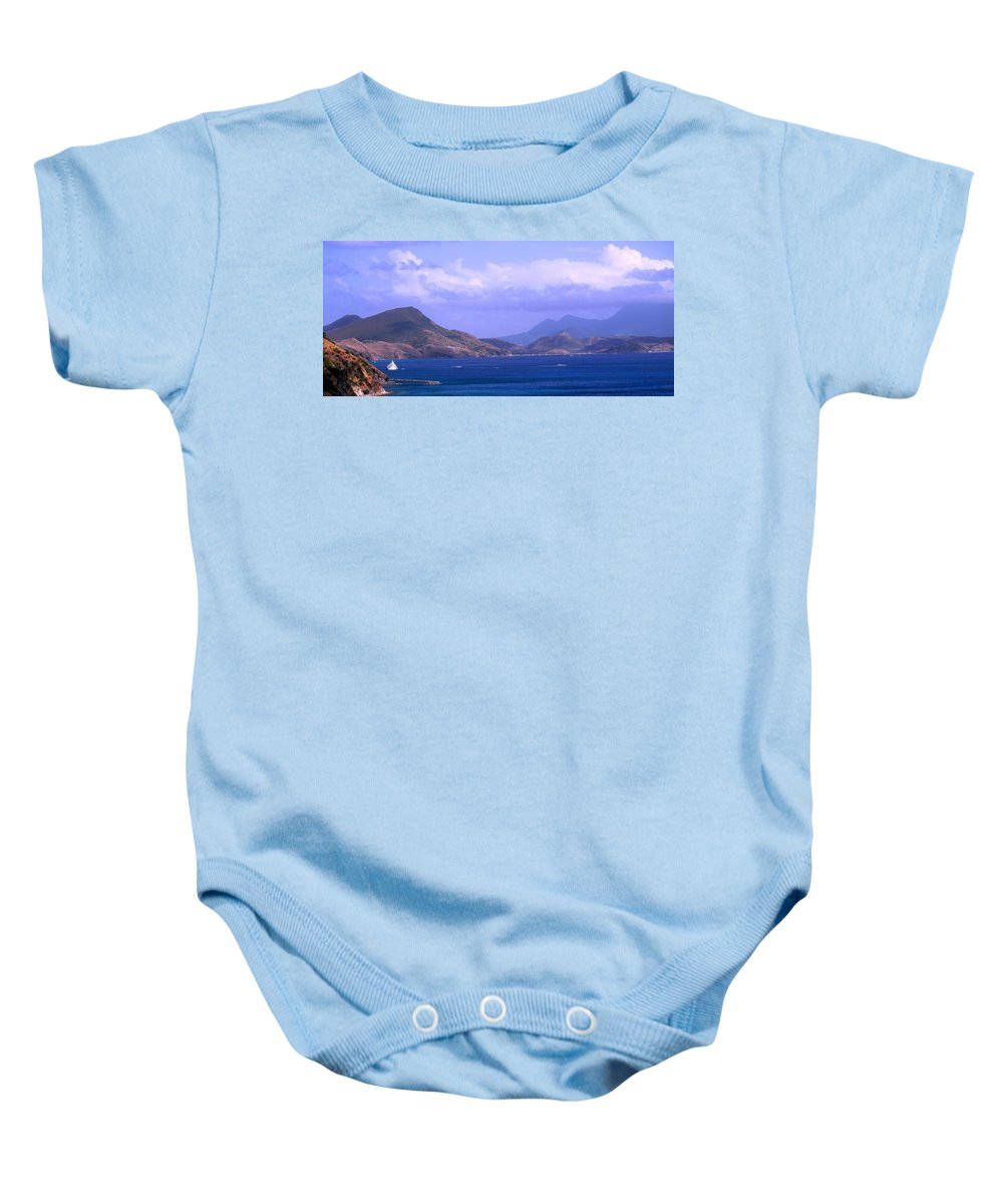 Marshalls Baby Onesie featuring the photograph The View From Marshalls by Ian MacDonald