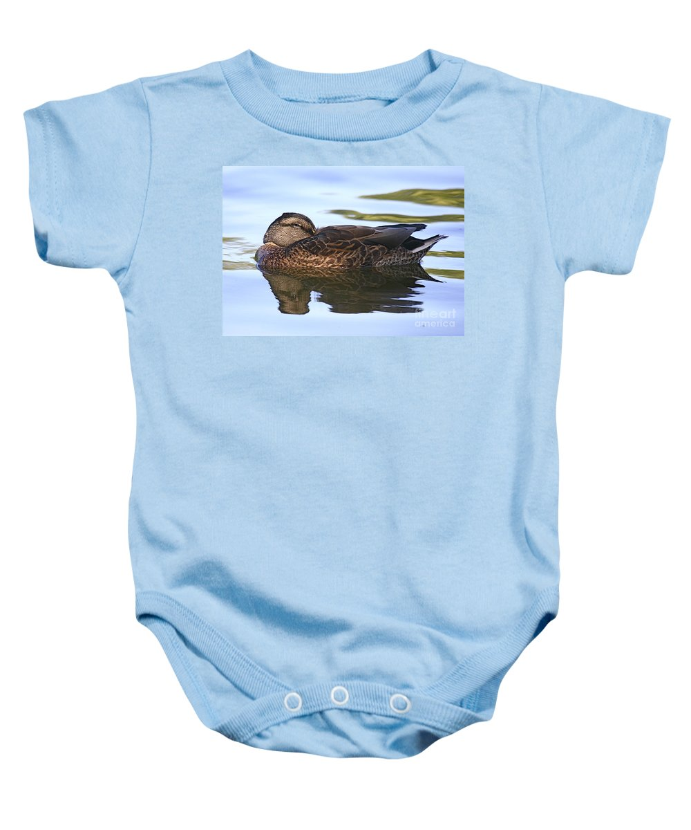 Duck Baby Onesie featuring the photograph The Water Bed by Robert Pearson