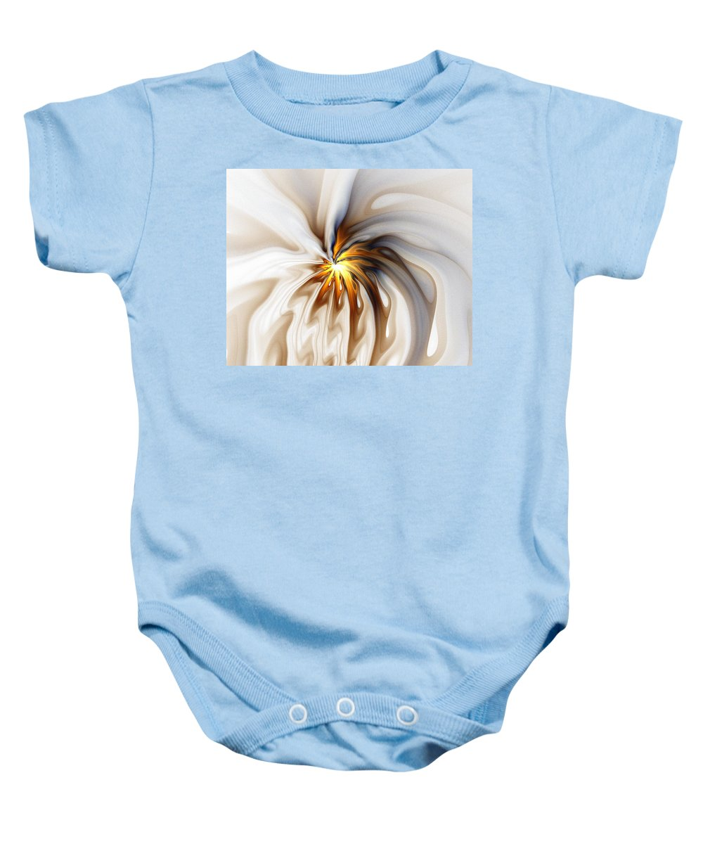 Digital Art Baby Onesie featuring the digital art This Too Will Pass... by Amanda Moore