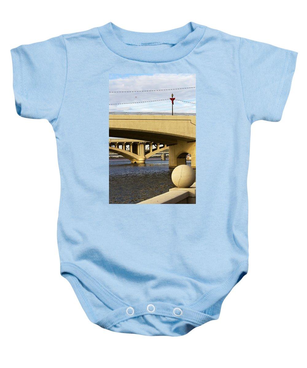 Bridge Baby Onesie featuring the photograph Three Bridges by Phyllis Denton
