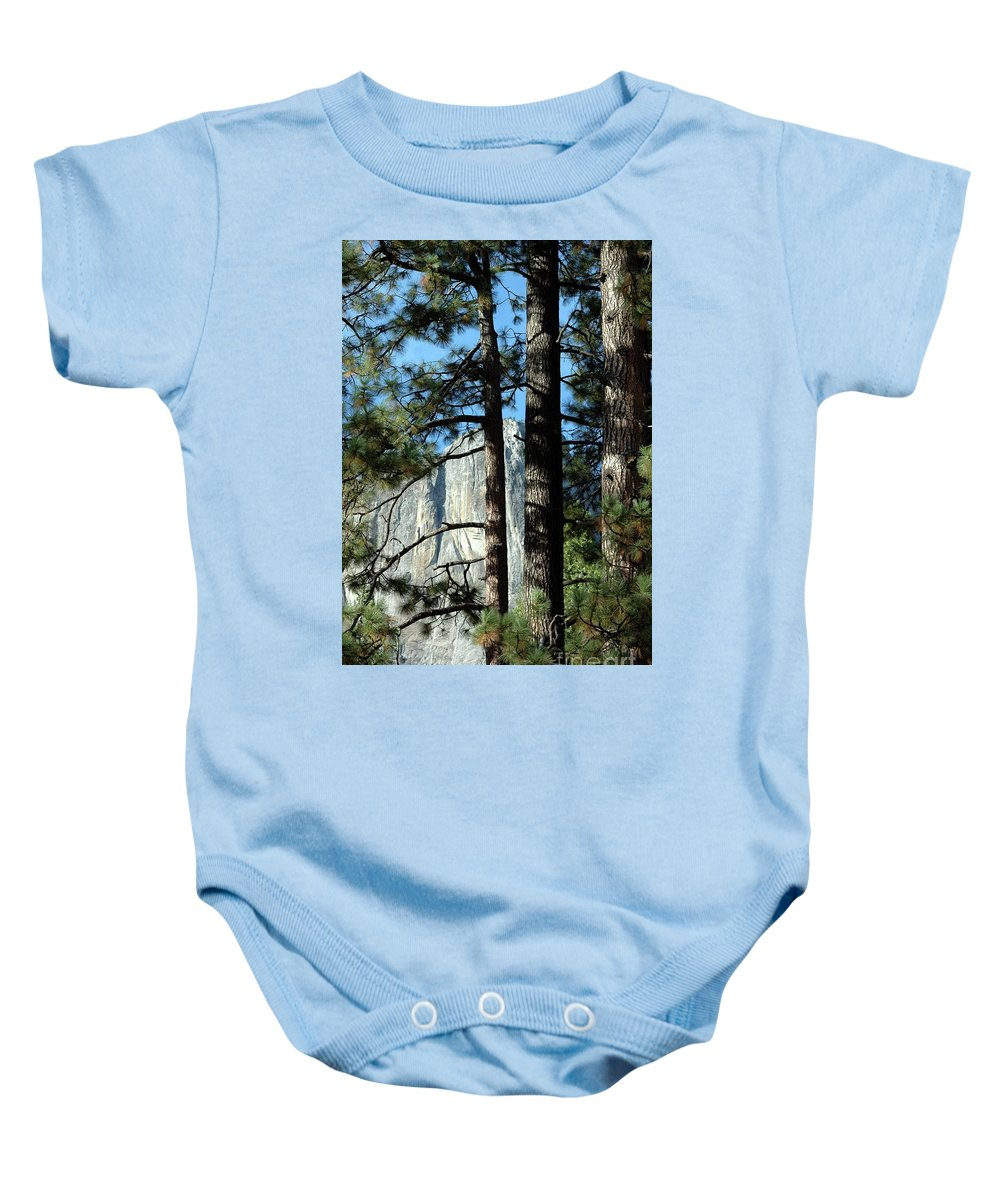 Trees Baby Onesie featuring the photograph Through The Trees by Kathleen Struckle