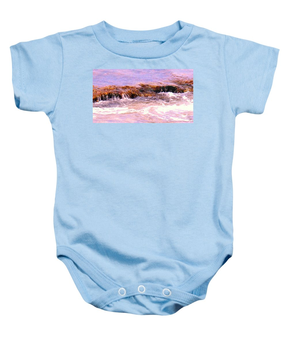 Tide Baby Onesie featuring the photograph Tidal Pool by Ian MacDonald