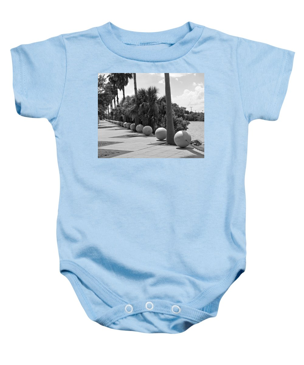 Florida; Titusville; Space; Coast; Astronauts; Astronaut; Cape; Canaveral; Mercury; Project; Freedom Baby Onesie featuring the photograph Titusville On The Indian River Lagoon In Florida by Allan Hughes