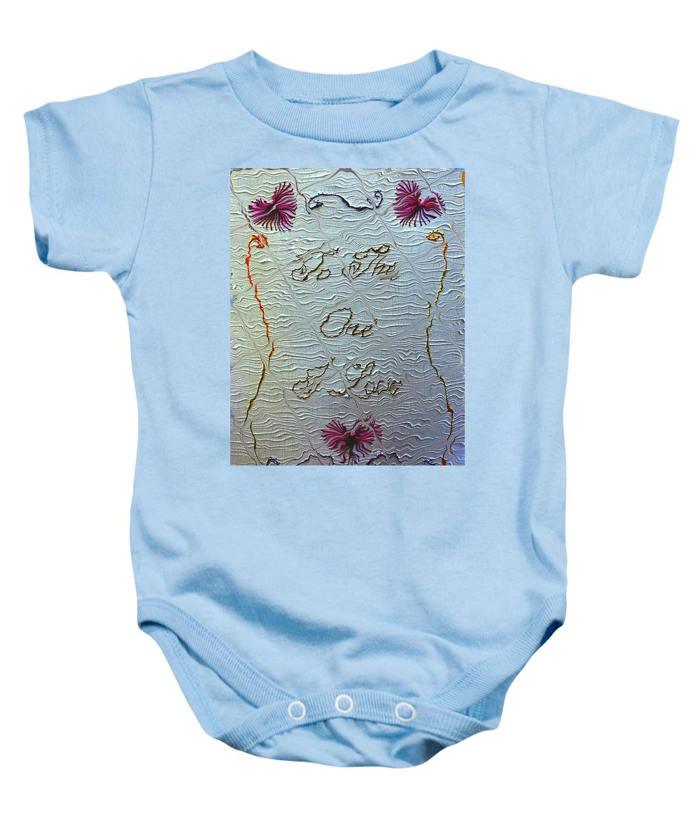 Australia Baby Onesie featuring the digital art To The One I Love by Zazl Art