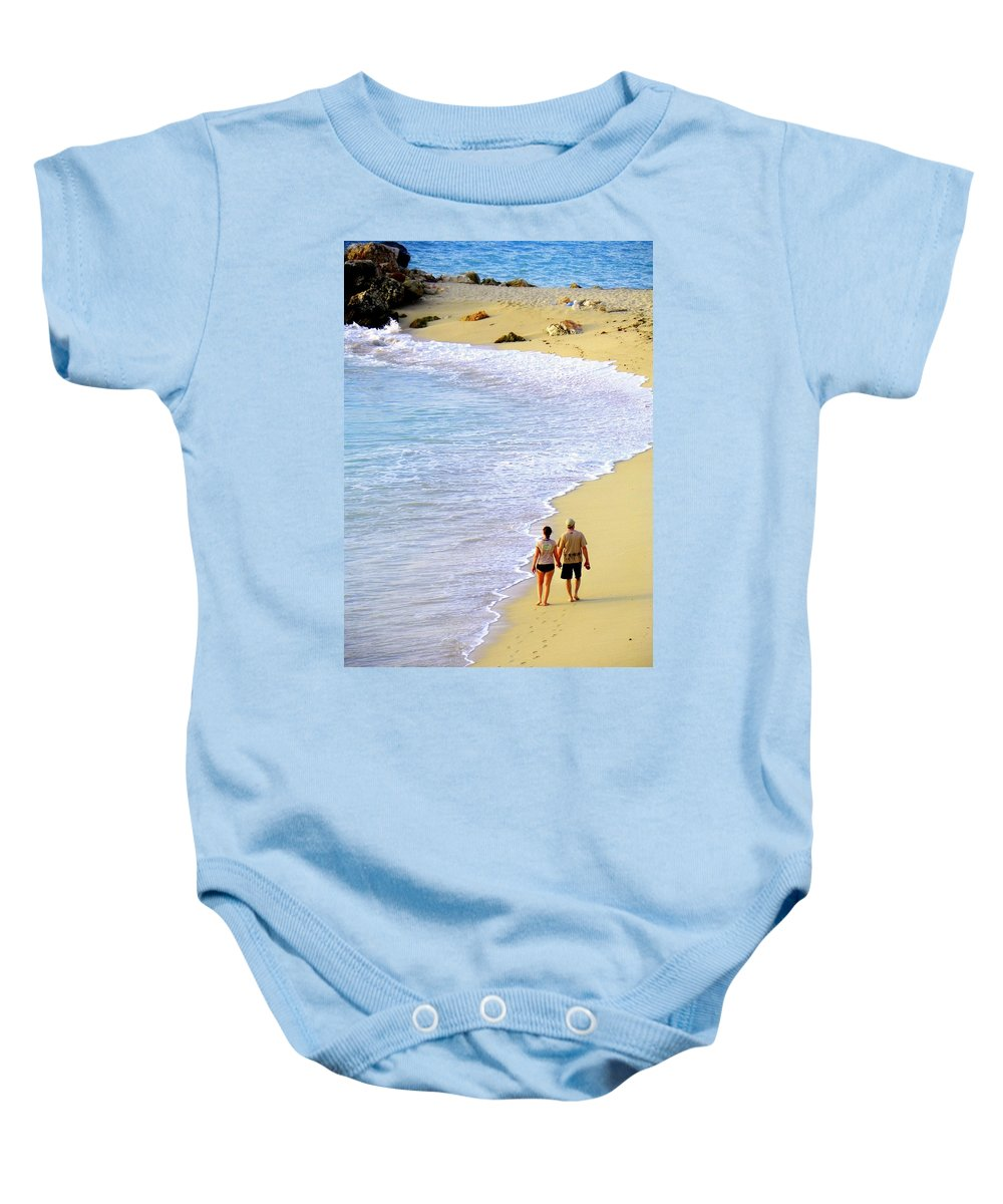 Couples In Love Baby Onesie featuring the photograph Together Alone by Karen Wiles