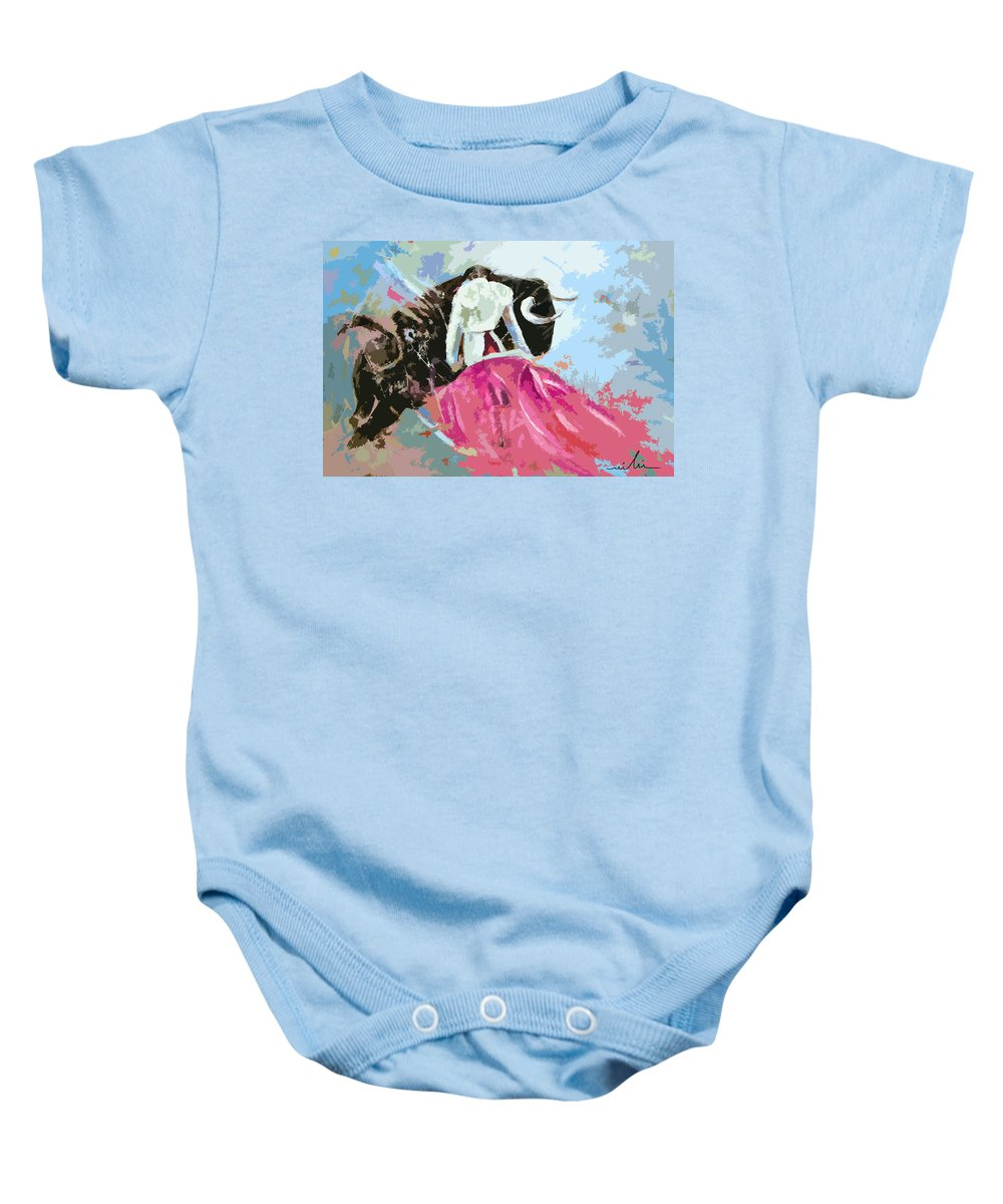 Animals Baby Onesie featuring the painting Toroscape 34 by Miki De Goodaboom