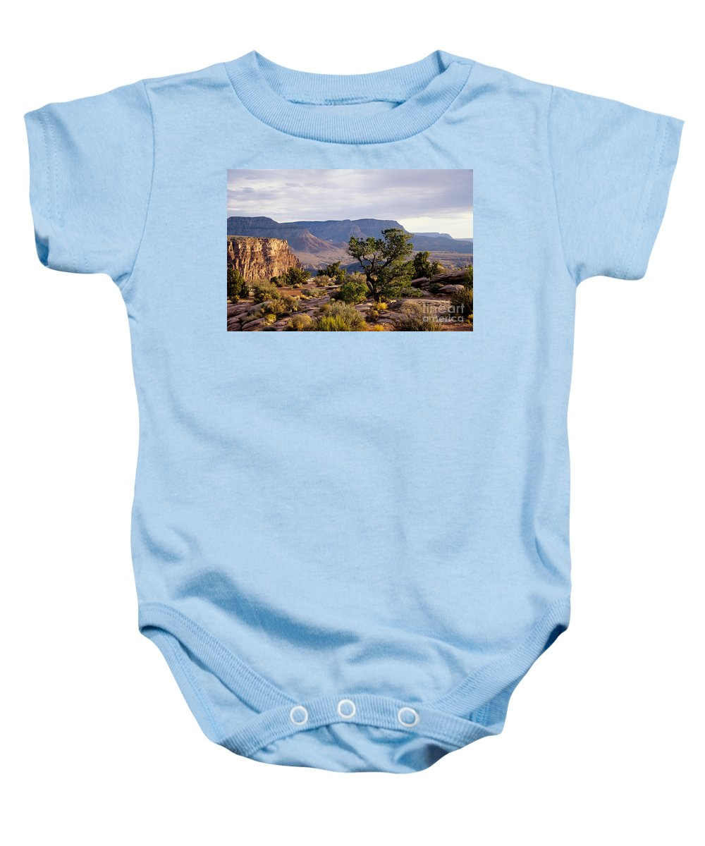 Arizona Baby Onesie featuring the photograph Toroweap by Kathy McClure