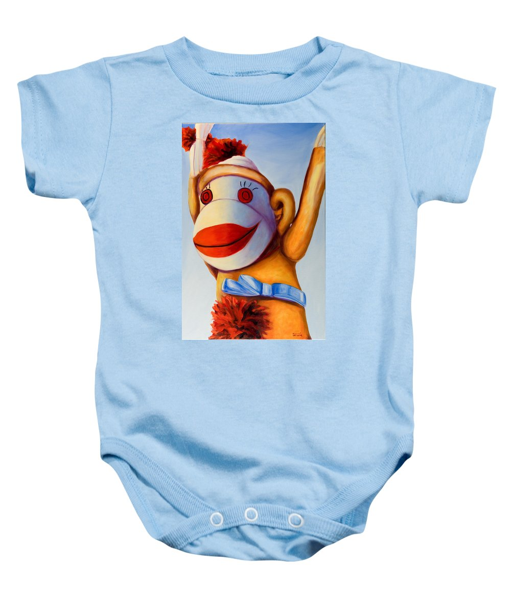 Children Baby Onesie featuring the painting Touchdown by Shannon Grissom