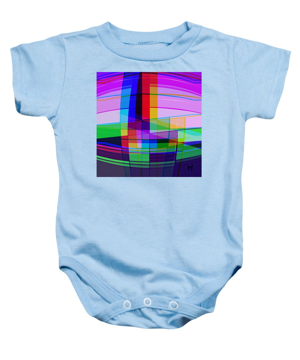 Color Baby Onesie featuring the digital art Tower by Yilmar Henry