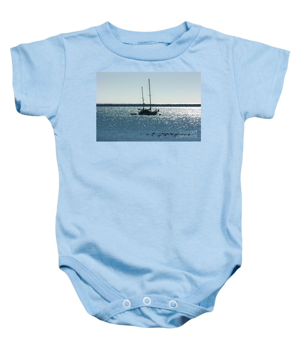 Seascape Baby Onesie featuring the photograph Tranquil Bay by Carol Groenen