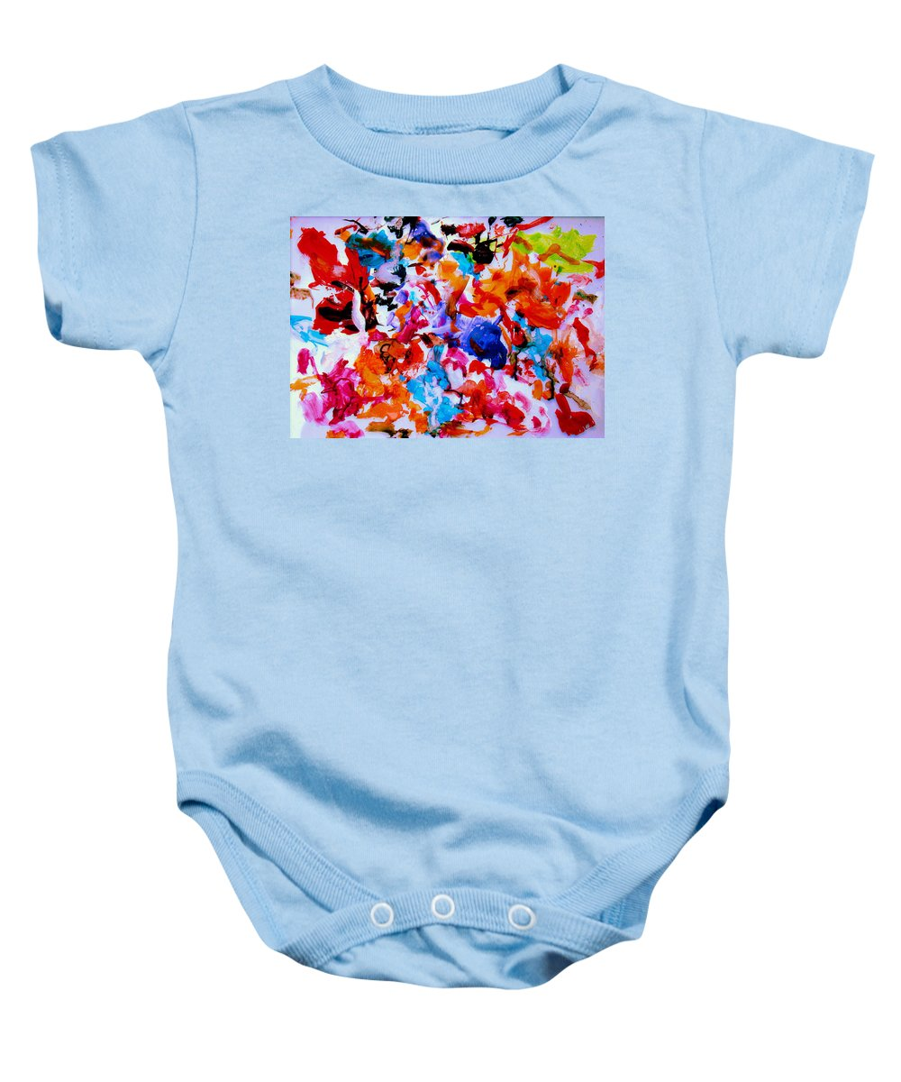 Abstract Baby Onesie featuring the painting Tranquility by Natalie Holland