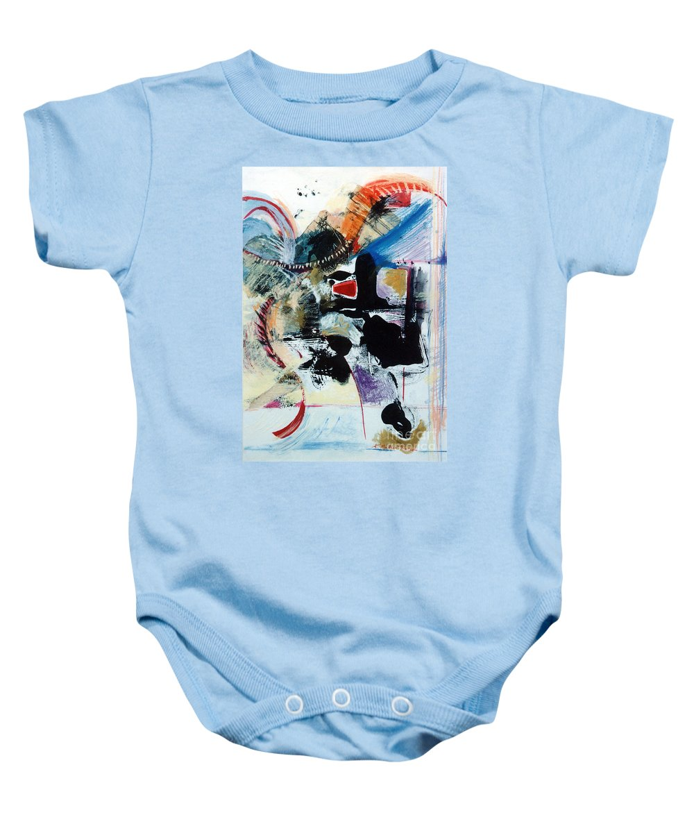 Transcendance Baby Onesie featuring the drawing Transcendance by Kerryn Madsen-Pietsch