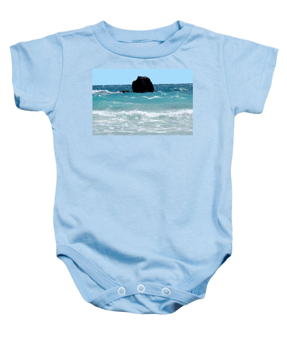 Bermuda Baby Onesie featuring the photograph Translucent by Ian MacDonald