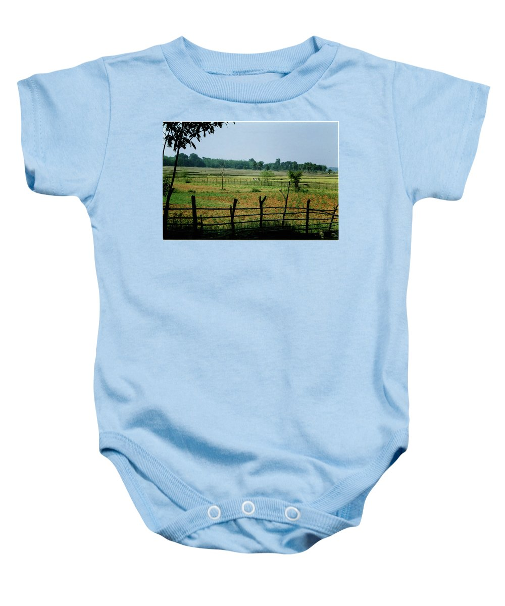 Tribe Baby Onesie featuring the photograph Tribal Village by Ujjwal Rout