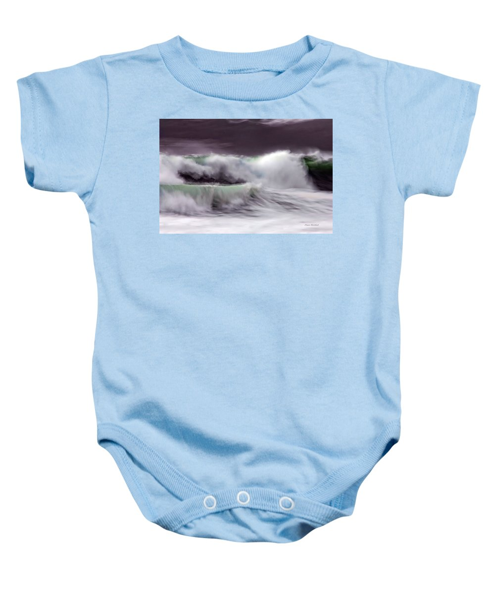 Ocean Baby Onesie featuring the photograph Tritan's Dance by Donna Blackhall
