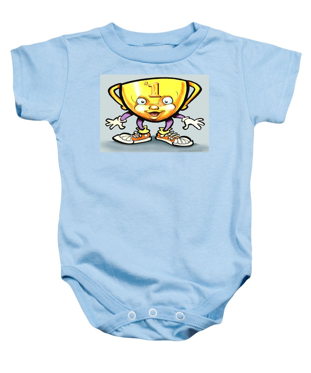 Trophy Baby Onesie featuring the digital art Trophy by Kevin Middleton