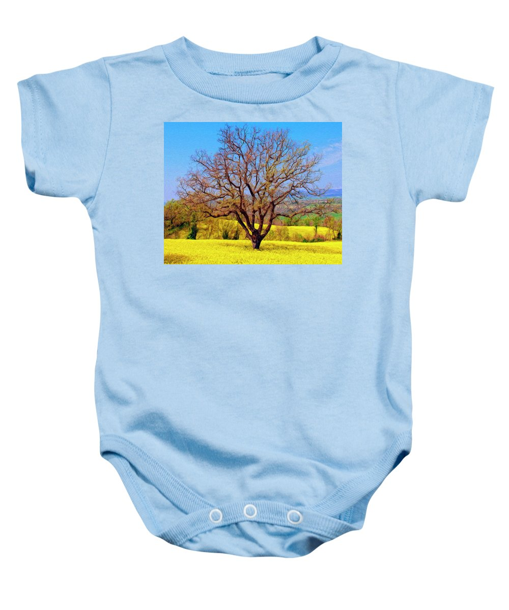 Italy Baby Onesie featuring the painting Tuscan Splendor by Dominic Piperata