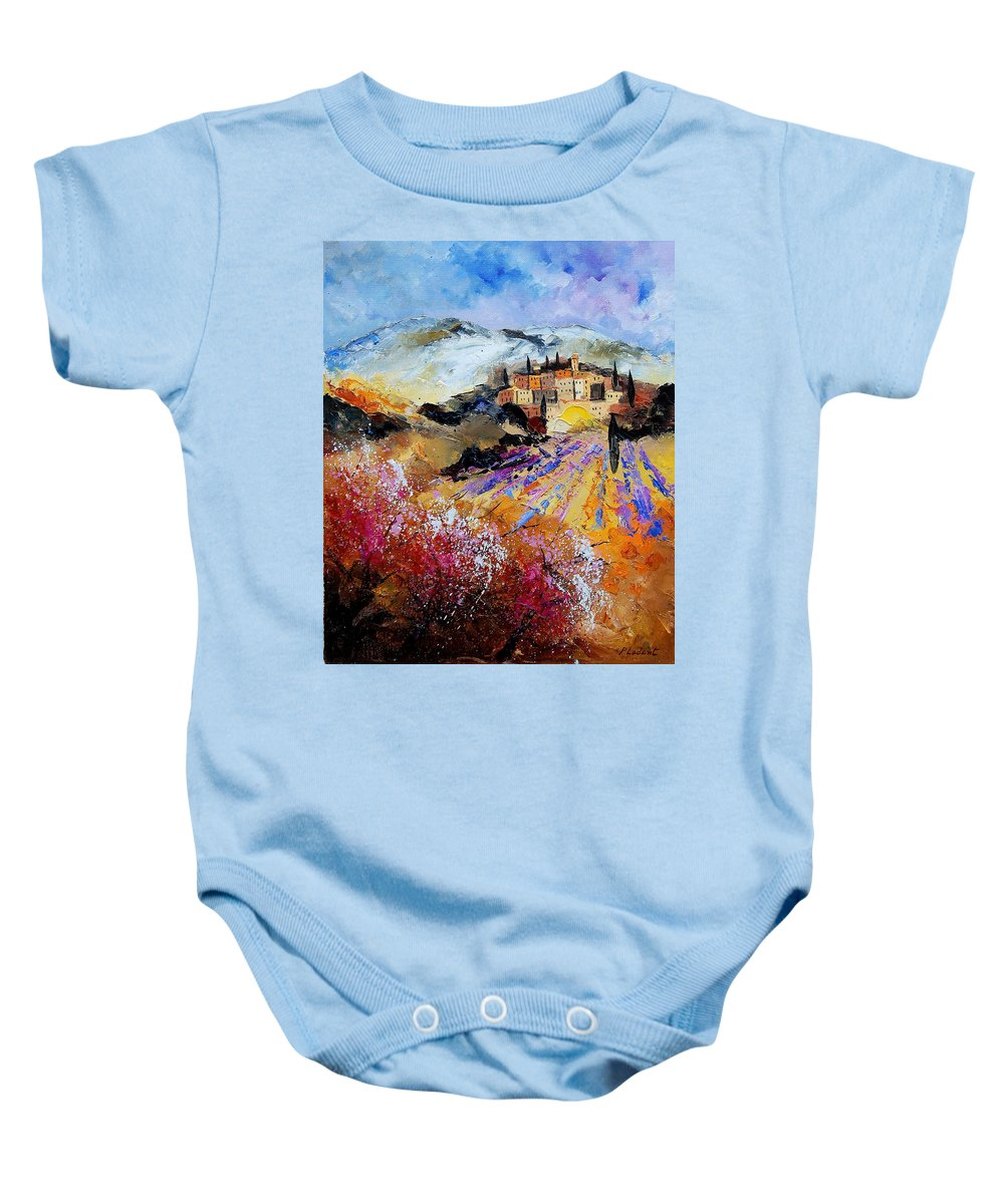 Provence Baby Onesie featuring the painting Tuscany 56 by Pol Ledent