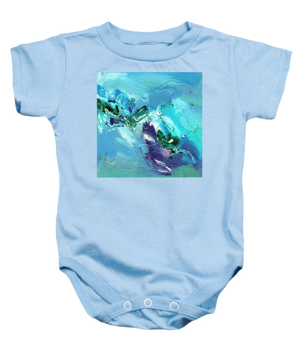 Abstract Baby Onesie featuring the painting Twilight Big Sur by Dominic Piperata