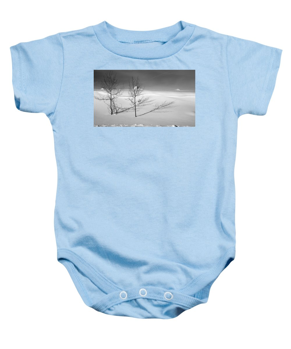 Nature Baby Onesie featuring the photograph Twins by Skip Hunt