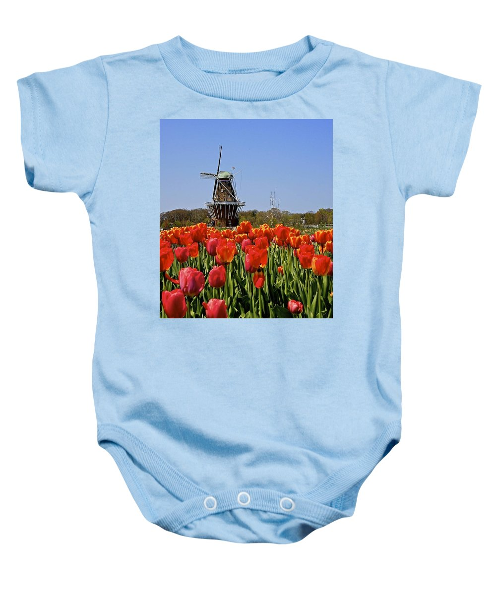 Tulips Baby Onesie featuring the photograph Two Lips by Robert Pearson