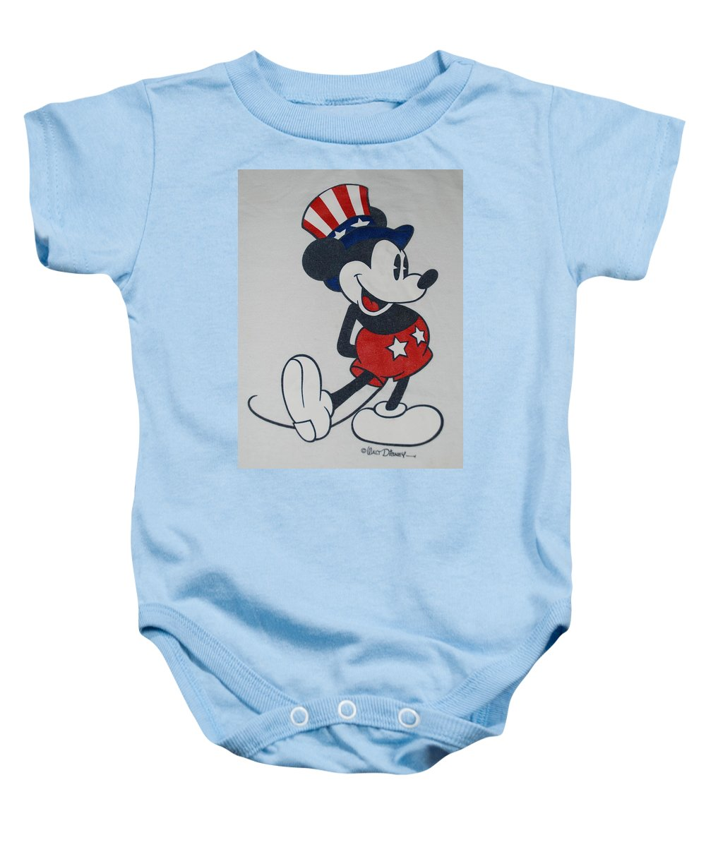 Disney Baby Onesie featuring the photograph Uncle Mickey by Rob Hans