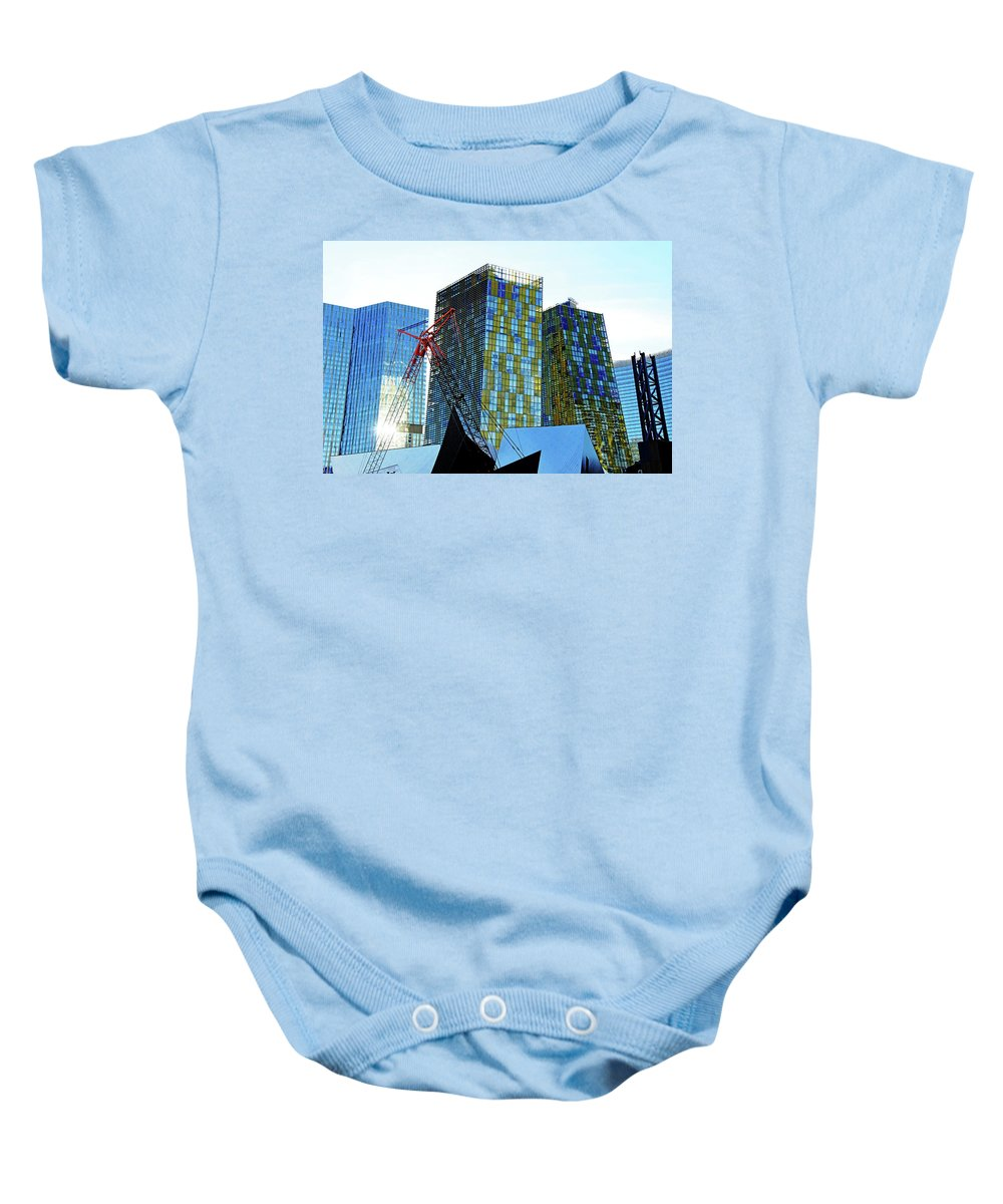 Las Vegas Baby Onesie featuring the photograph Under Construction by Debbie Oppermann