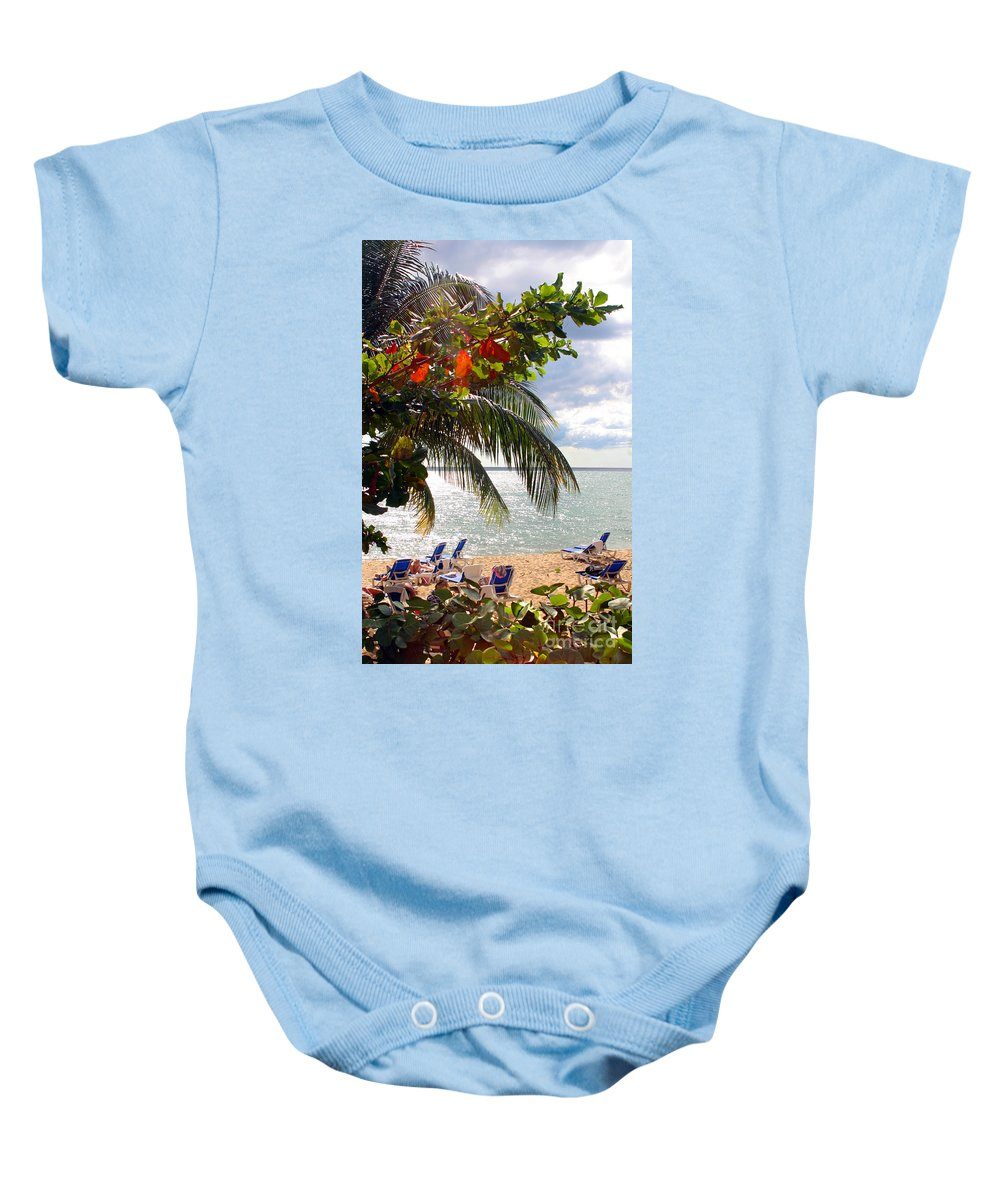 Palm Baby Onesie featuring the photograph Under The Palms In Puerto Rico by Madeline Ellis