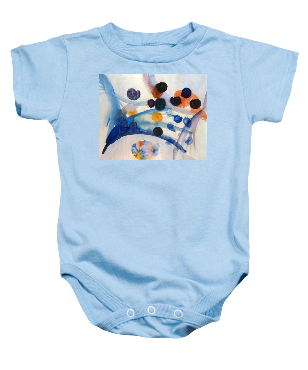 Abstract Baby Onesie featuring the painting Under The Sea by Steve Karol