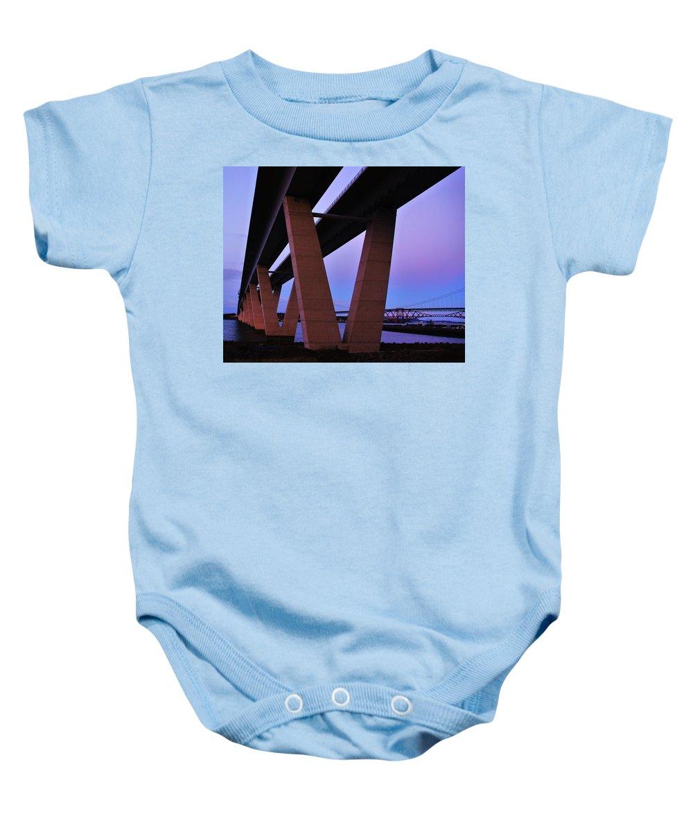 Nik Watt Baby Onesie featuring the photograph Underneath by Nik Watt