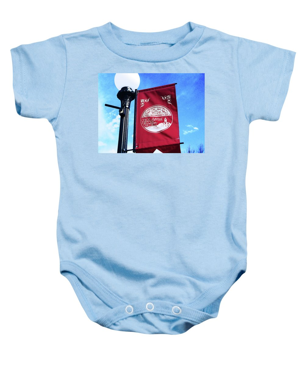 Abstract Baby Onesie featuring the photograph Union Avenue Historic District by Lenore Senior