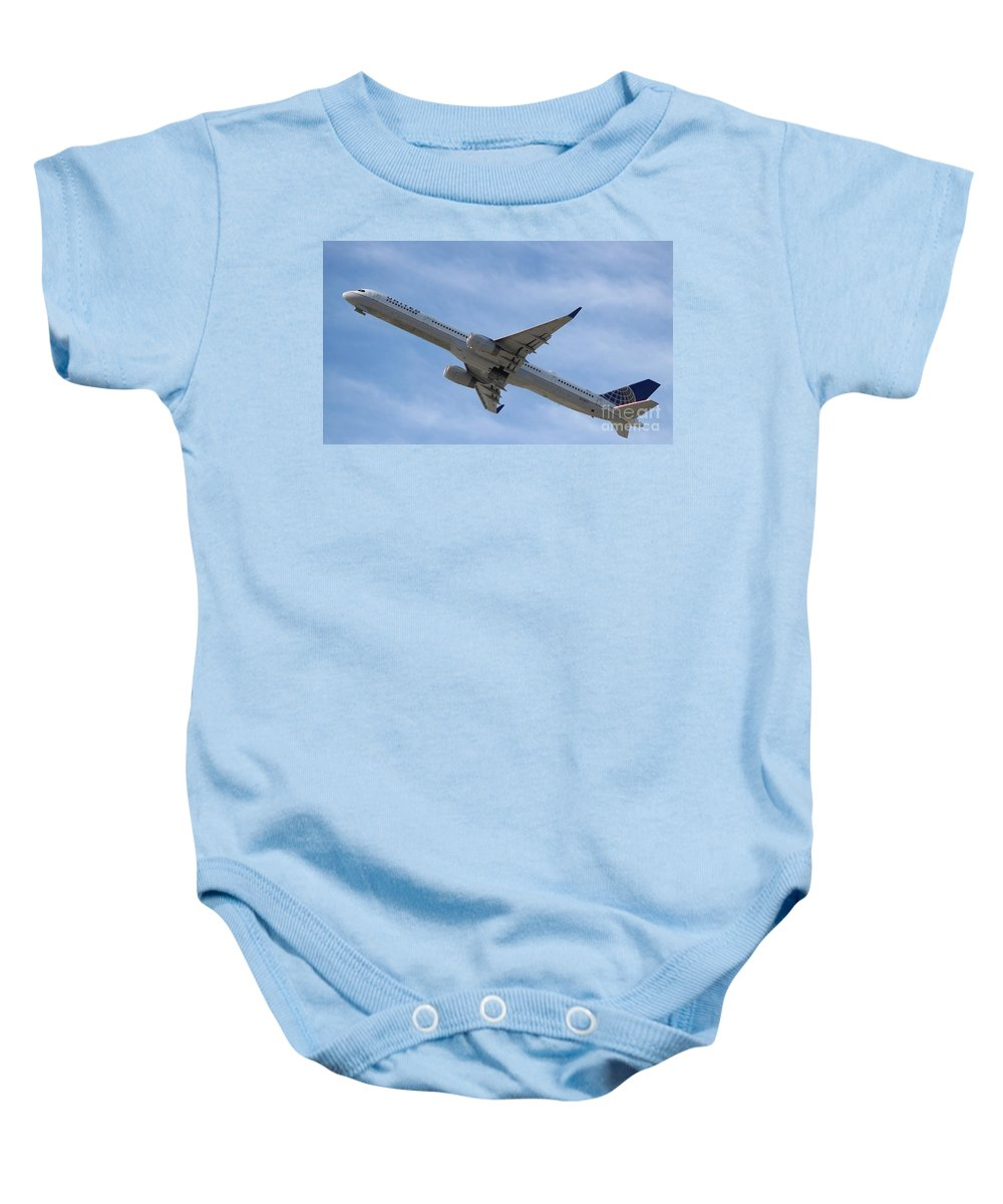 United 757 Baby Onesie featuring the photograph United 757 by John Linder